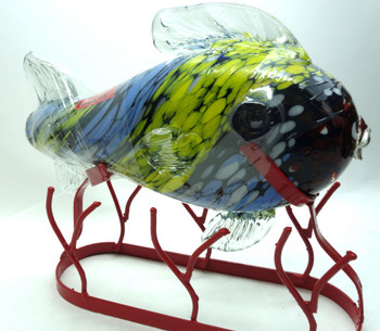 Calera Anejo tequila Fish on metal stand