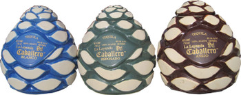 La Leyenda del Caballero Reposado Ceramic Agave Heart Bottles 750ml.