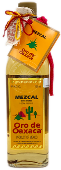 Oro de Oaxaca Mezcal with Agave Worm 750ml