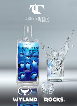 TRES SIETES WYLAND DOLPHIN SILVER TEQUILA