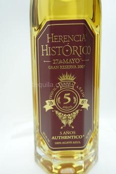 HERENCIA HISTORICO 27 DE MAYO ULTRA AGE 5yR TEQUILA