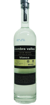 Siembra Valles High proof Tequila Blanco