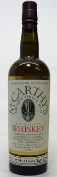 Mc Carthy's Oregon Single Malt Whiskey Clear Creek Distillery