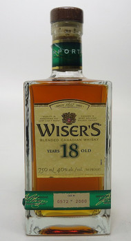 WISERS 18 year Blended Canadian Whisky