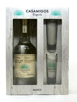 CASAMIGOS Blanco Tequila with Two Glasses Gift Set