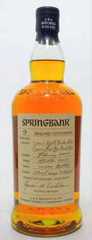 Springbank 9 years Single Malt Whisky