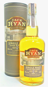 Jack Ryan Beggars Bush 12 year Single Malt Whiskey