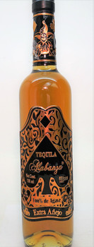 Tequila Alabanza Extra Anejo Clear Bottle
