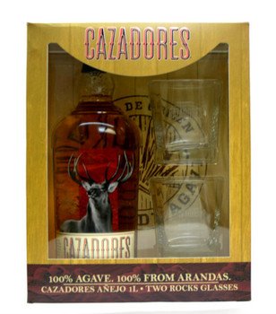 CAZADORES 1L GIFT SET WITH 2 GLASSES