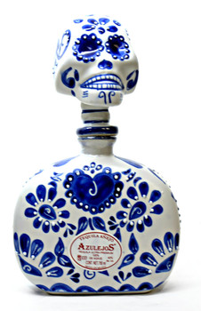 Los Azulejos Anejo Ceramic blue and white Skelly