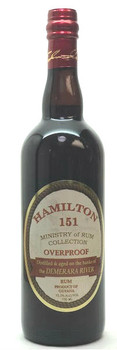 Hamilton Rum Over proof 151