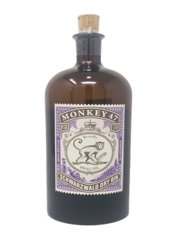 Monkey 47 Dry Gin Germany Schwarzwald 1 Liter Bottle
