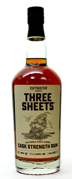 Three Sheets Cask Strength  Rum 5yr