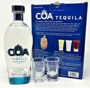 Coa De Jima Silver Tequila Gift Set