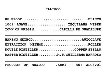 Puntagave Rustico Tequila Blanco Info