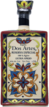 Dos Artes Reserva Especial 1.75 L Extra Anejo Tequila front view