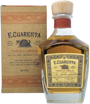 E.Cuarenta Tequila Anejo with Box