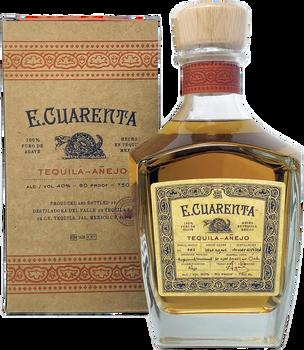 E.Cuarenta Tequila Anejo with Box