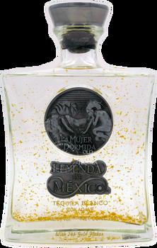 Leyenda De Mexico Blanco Tequila with 24 Gold Flake