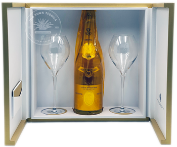 Cristal Louis Roederer Champagne Gift Set with two glasses