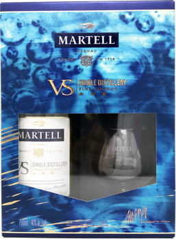 Martell VS Single Distillery Cognac Gift Set