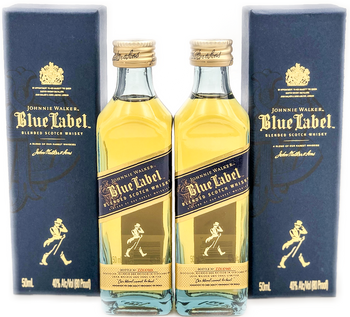Johnnie Walker Blue Label Scotch Whisky 50ml Mini Bottles Set