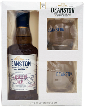 Deanston Virgin Oak Single Malt Scotch Gift Set