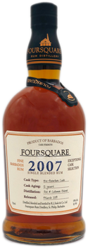 Foursquare Rum 2007 12 Year Old Ex-Bourbon Cask Exceptional Cask Selection Mark VI Single Blended Barbados Rum