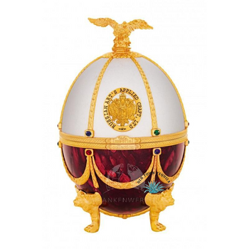 Imperial Collection Super Premium Vodka in Faberge Egg Red and White