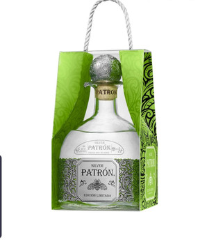 Patron Silver Tequila 1 Liter 2019 Edition in Gift Bag