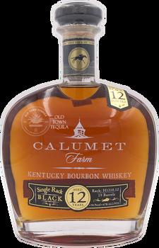 Calumet Farm Kentucky Bourbon Whiskey Single Rack Black Aged 12 Years
