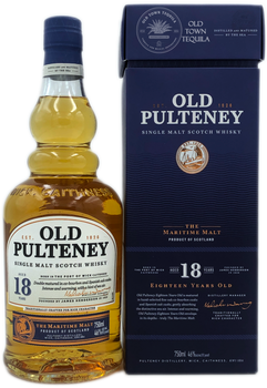 Old Pulteney Single Malt Scotch Whisky Aged 18 Years 750ml