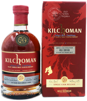 Kilchoman Islay Single Malt Scotch Whisky Impex Cask Revolution  2/2018 10 Year Old Sherry Butt Single Cask Release