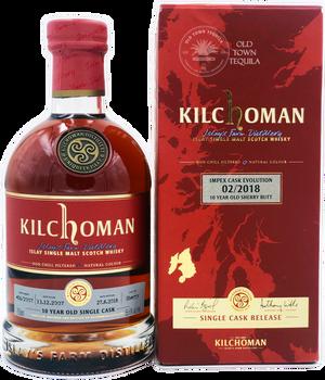 Kilchoman Islay Single Malt Scotch Whisky Impex Cask Revolution  2/2018 10 Year Old Sherry Butt Single Cask Release