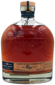 Redemption Pre-Prohibition Whiskey Revival Rye Aged 10 Years