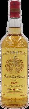 James MacArthurs Fine Malt Selection from Islay Single Malt Scotch Whisky Aged 6 Years 750ml