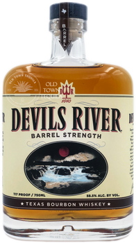 Devils River Barrel Strength Texas Bourbon Whiskey 750ml