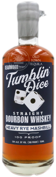 Deadwood Tumblin Dice 3 Year Old Straight Bourbon Whiskey Heavy Rye Mashbill 750ml