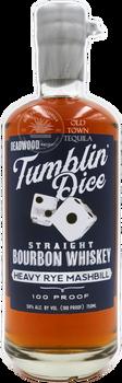 Deadwood Tumblin Dice 3 Year Old Straight Bourbon Whiskey Heavy Rye Mashbill 750ml