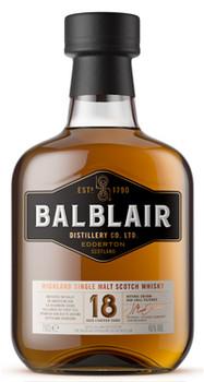 Balblair 18 Year Old Highland Single Malt Scotch Whisky 750ml