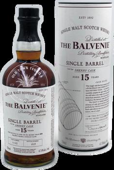 The Balvenie Single Barrel 15 Year Old Sherry Cask Single Malt Scotch Whisky 750ml