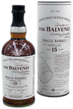 The Balvenie Single Barrel 15 Year Old Sherry Cask Single Malt Scotch Whisky 750ml