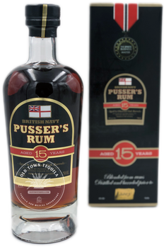 British Navy Pusser's Rum Aged 15 Years 750ml