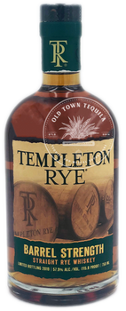 Templeton Rye Barrel Strength Straight Rye Whiskey 750ml
