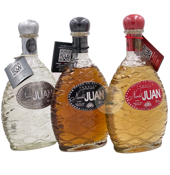 Number Juan Tequila Set 3 Bottles