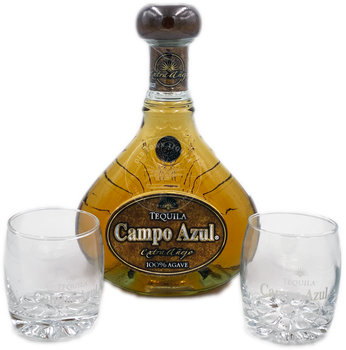 Campo Azul Tequila Extra Añejo Gran Reserva Gift Set
