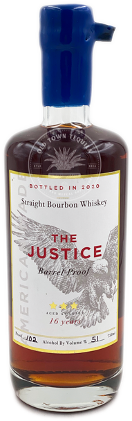 The Justice Straight Bourbon Whiskey Aged 16 Years 750ml
