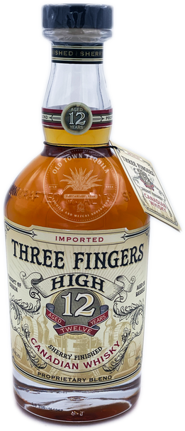 Three Fingers High Sherry Finished Canadian Whisky Aged 12 Years