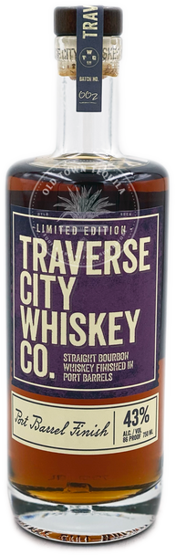 Traverse City Whiskey Co. Straight Bourbon Whiskey Finished in Port Barrels