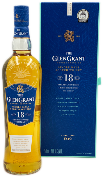 The Glen Grant Single Malt Scotch Whisky Aged 18 Years